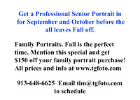 0 Family Portrait Fall $150 off